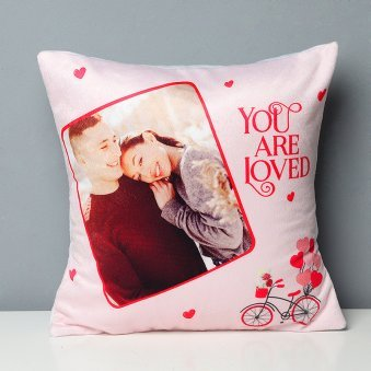 You Are Loved Personalised Printed Cushion