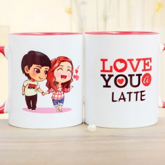 One Couple Mug with Both Sided View