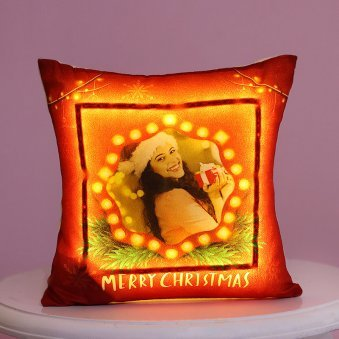 Personalised Christmas LED Cushion