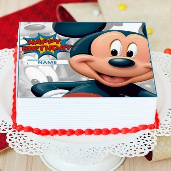 Mickey Mouse Photo Cake - Zoom View