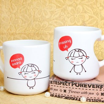 Missing uh Mug with Both Sided View