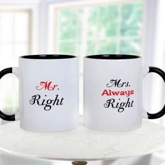 MR Right And MRS Always Paired Mugs