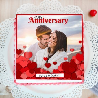 Photo cake for wedding anniversary