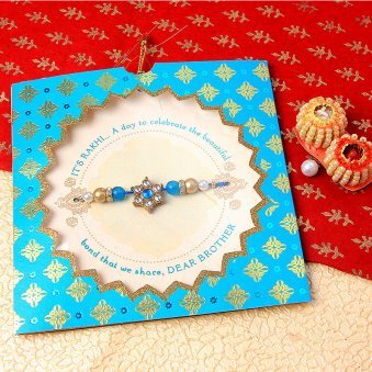 The Turquoise Token Rakhi