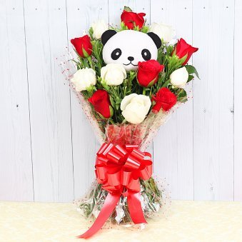 Panda Roses - Bouquet of Panda and Roses