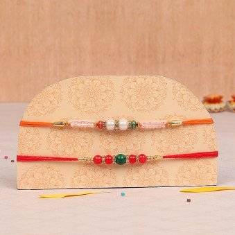 Set of Two Pearl Rakhis