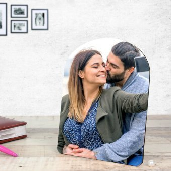 Perpetual Love - Customised Couple Photo Frame with Oblique View