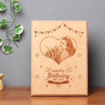 Personalised Birthday Wooden Frame