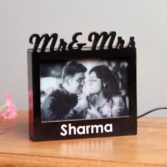 Mr. and Mrs. Personalised Lamp with Clear View