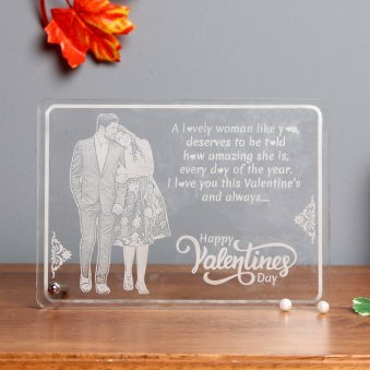 Personalised Valentines Glass Frame
