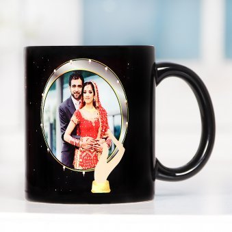 Personalised Karwa Chauth Mug with Front Side View