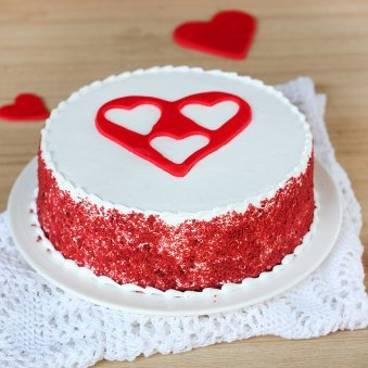 Radiant Bliss - Red Velvet Cake with Heart in Centre