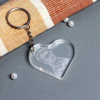 Heart Shaped Personalised Keyring