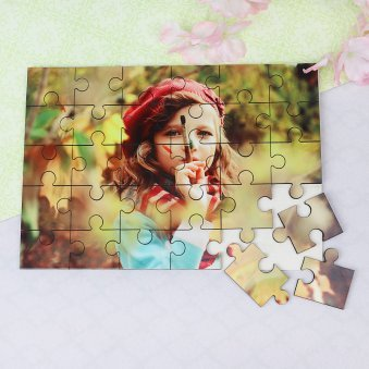 Personalised Jigsaw Puzzle Gift with Incomplete Solution