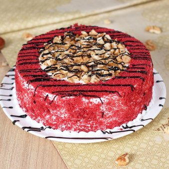 Red Velvet Crunchy Cake with Normal View