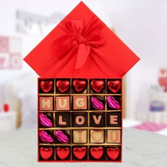 send a box of 25 handmade chocolates to your sweetheart