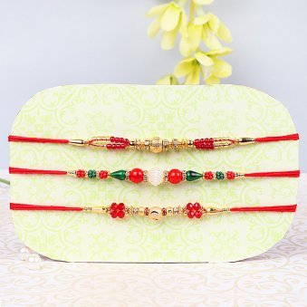Set Of Three Fancy Rakhis