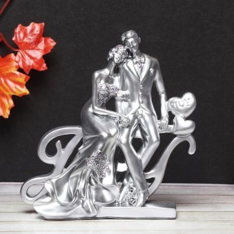 Beautiful Silver Couple Showpiece