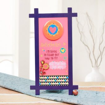 Sweetheart Quotation Table Stand with Front View