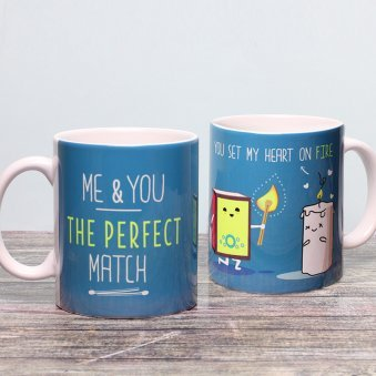 The Perfect Match Mug with Both Sided View