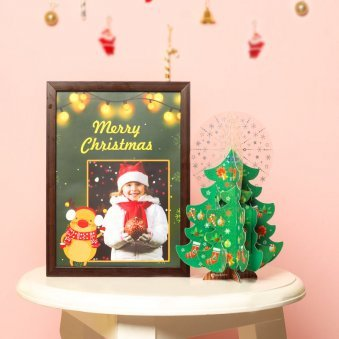 Personalised Christmas Photo Frame with a Greeting Card
