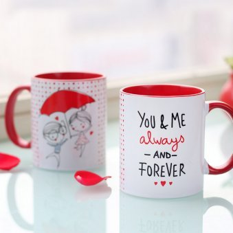 You And Me Forever Printed Mug with Both Side View