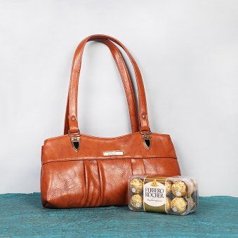 Handbag with 16 Ferrero Rocher Chocolates