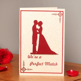 We Are a Perfect Match 3D Greeting Card