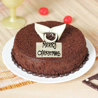 Choco Mud Cake for Christmas