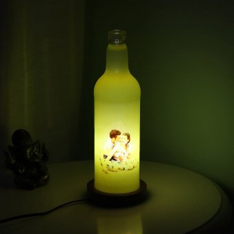 Yellow Personalised Lamp with Lightning View