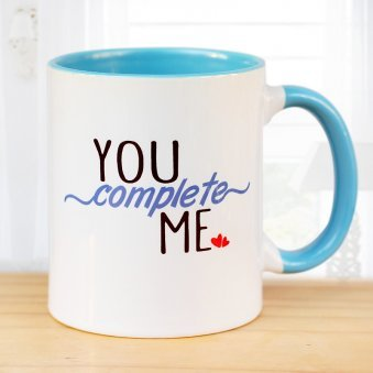 You Complete Me Printed Mug with Front Sided View