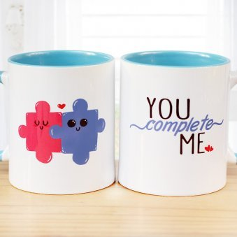 You Complete Me Printed Mug with Both Sided View