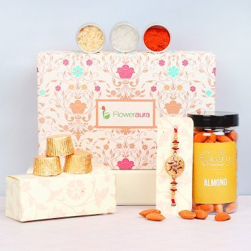 Rakhi with Dry Fruit and Chocolates in Signature Box